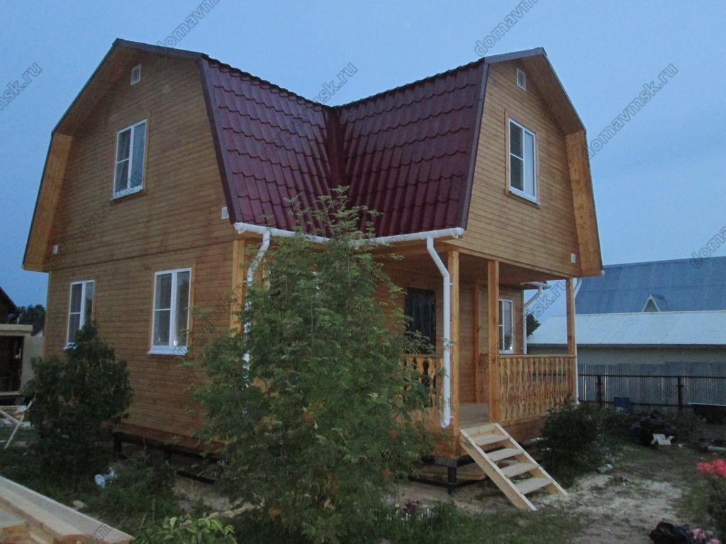 Фото строительства каркасного дома в дер. Гряды