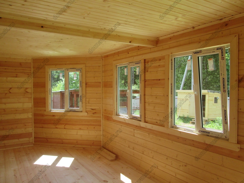 Строительство дома из бруса с. Костино