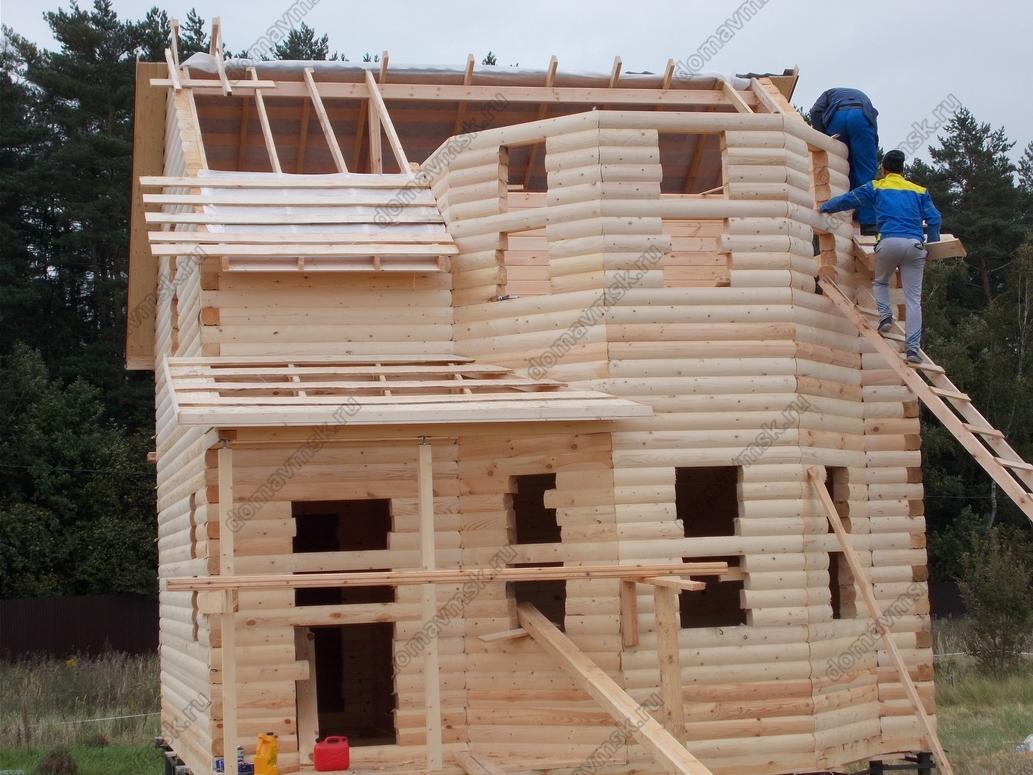 Строительство дома из бруса д. Мальцы