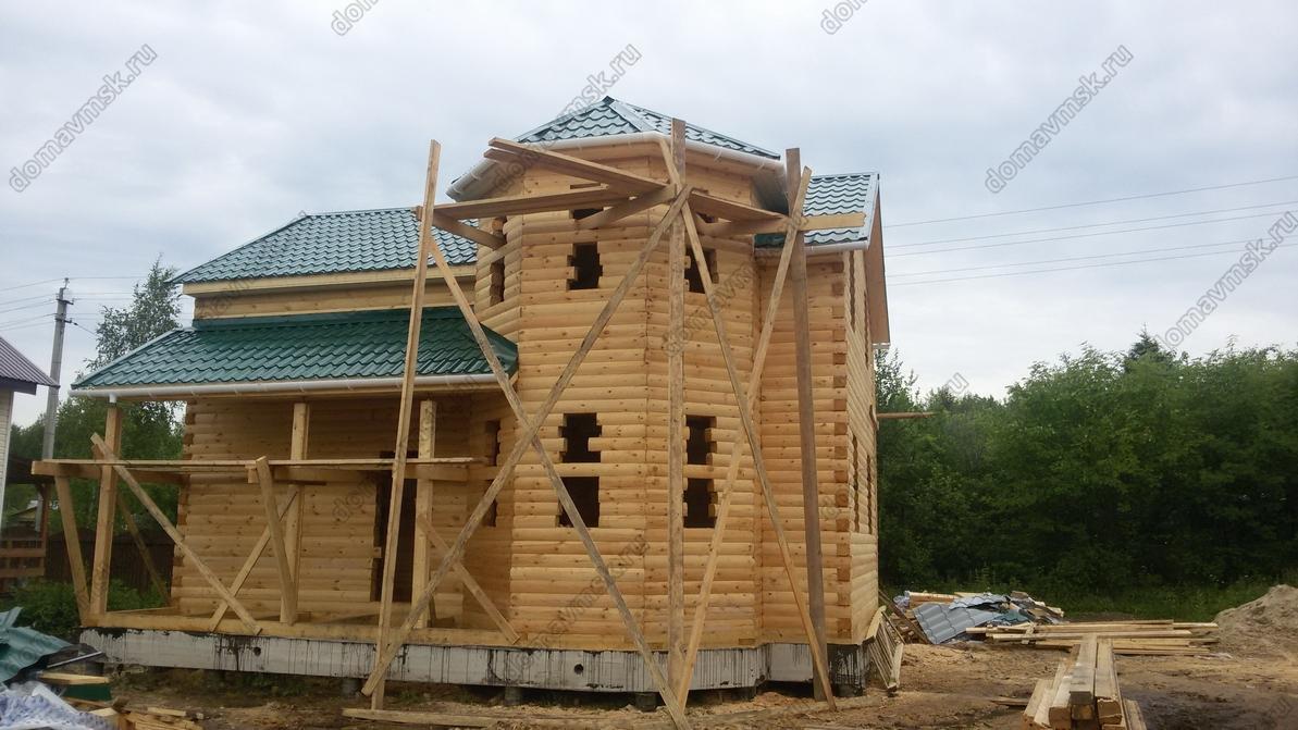 Строительство дома из бруса д. Никулино